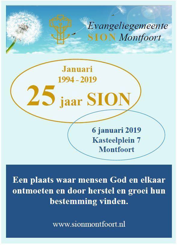 6 januari 2019: Sion bestaat 25 jaar
